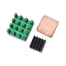 3Pcs Aluminum Heat Sink w/ Copper Cooling Sinks for Raspberry Pi 2/3 Model B/B+