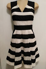 Portmans black white stripe dress. Size 6