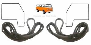 VW KOMBI T2 1968-1979 GOOD QUALITY LEFT AND RIGHT FRONT DOOR RUBBER SEAL
