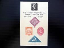 Gb 1950 Waterlow & Sons London Stamp Exhibition Souvenir Sheet Sale Price Fp779