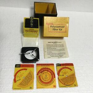Vintage Kodak Polycontrast Filter Kit Model A Comp Photography Darkroom Enlarger
