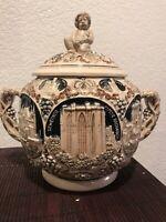 1920s West German Ceramic Punch Bowl