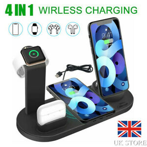 4 in 1 Charging Station Charger Stand Dock For Apple Watch iPhone iPad Air Pods