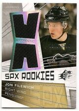 08/09 SPx ROOKIE DUAL JERSEY RC Jon Filewich #218/1299
