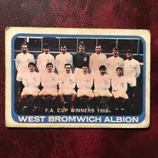 1968/69 A&BC Footballer Set WEST BROMWICH ALBION TEAM #1 SERIES ONE CHECKLIST