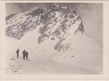 PHOTOGRAPHIE ANCIENNE-1906-MILITAIRE/MONTAGNE-REFUGE LA VANOISE-CHASSEURS ALPINI