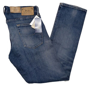 POLO RALPH LAUREN Men's Sullivan Slim Stretch Denim Jeans Blue 30 x 30 ~ New