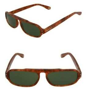 GUCCI GG0615S 003 Men's 53mm Rectangular Sunglasses Havana / Green - Italy Made