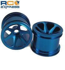 GPM Racing Losi Mini-T Aluminum Blue 6 Spoke Wheels (2) Front SMT0627F/L06