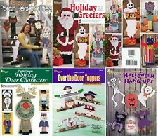 Lot of Plastic Canvas Pattern Books ~ 25+ Holiday Porch Door Wall Projects NEW