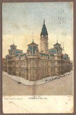 Vintage Postcard 1909 City Hall, Philadelphia Pennsylvania