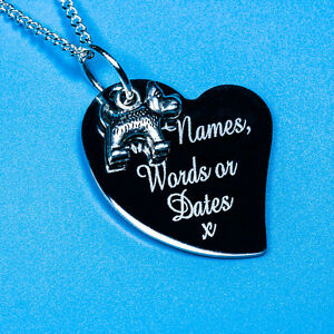 Personalised Man's best friend Dog Charm Pendant Necklace Jewellery Gift Name