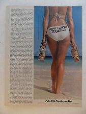 1979 Print Ad Pepe Lopez Tequila ~ Sexy Girl Bikini Backside