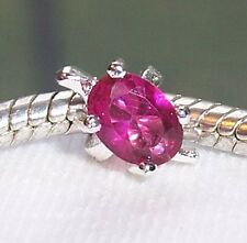 Pink Fuchsia Rhinestone Turtle Animal Ring Charm fits European Bead Bracelets
