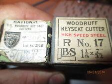 MACHINIST LATHE MILL 2 Key Seat Key Way Wood Druff End Mill Cuters NEW UNUSED 1F