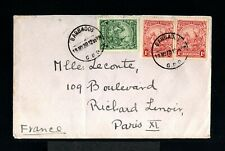 12263-BARBADOS-OLD COVER BARBADES to PARIS (france) 1930.British.