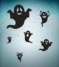 Set 6x sticker decal car bike  halloween spooky kid macbook ghost black funny