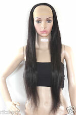 "30"" Indian Dark Brown Remi Virgin Hair 100% Human Hair Extension ( Half Wig )"