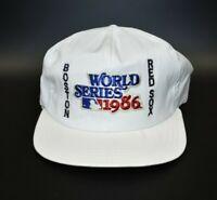 Vintage AJD 1986 MLB World Series Boston Red Sox Men's Snapback Cap Hat