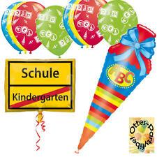 Dekoration Schulanfang Schuleinführung Ballonset 8 Luftballons + 2 Folienballons