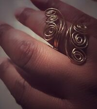 Handmade wire adjustable ring