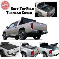 APU 2004-2018 Chevy Silverado 5.8 ft Bed Truck Black Soft Trifold Tonneau Cover