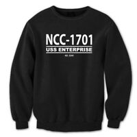 Ncc-1701  Star Trek Retro Ship Enterprise Uniform Black Crewneck Sweatshirt