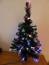 2ft USB de fibra óptica verde del árbol de Navidad LED Escritorio Oficina Multicolor Árbol De Navidad