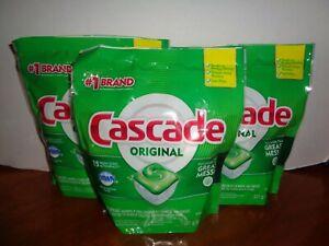 45 Cascade Original Dawn ActionPacs Fresh Scent Dishwasher Pods 3-15 Count Bags
