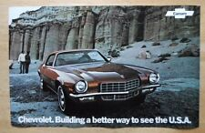 CHEVROLET CAMARO orig 1972 USA Mkt Large Format Showroom Poster Brochure -Z28 SS