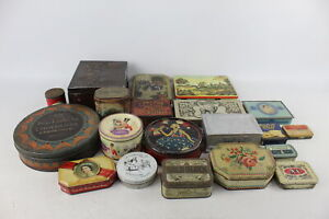 20 x Assorted Vintage ADVERTISING TINS Inc Decorative, Hall's, Quality Street