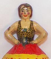 Marx Ballerina Spinning Top Tin Toy Ballet Dancer Vintage 1930s Hard To Find