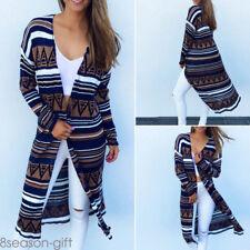 Boho Womens Long Sleeve  Loose Coat Outwear Long Coat Casual Tops Blouse GIFT