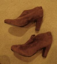 Sam Edelman light brown suede ankle boots size 8M leather caramel booties