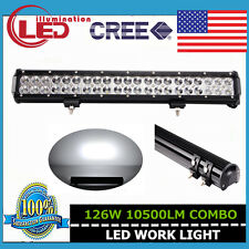 20INCH 126W CREE SPOT FLOOD WORK DRIVING LED LIGHT BAR 12V 24V 4WD JEEP SUV BOAT