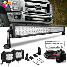 "30"" Inch 180W Projector Straight Slim Led Light Bar Fit Rzr/Can Am/Polaris/Rhino"