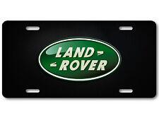 Land Rover Aluminum Car Auto License Plate Abstract British Carbon Fiber Dark