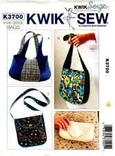 Kwik Sew Sewing Pattern K3700 3700 Bags Handbags NEW