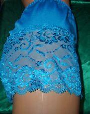 Élégant Nylon Dentelle Culotte Taille Xxxl 3xl Turquoise nylonslip pantie Slip (g42)
