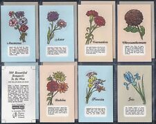 LYONS (ICE CREAM & TEA)-FULL SET- FLOWERS (CUT OUT M14 CARDS) - EXC+++
