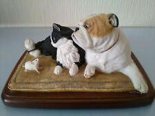 More details for sherratt & simpson bulldog, cat & mouse 'fireside friends'  1989 & original box