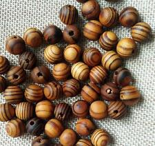 100 pcs Brown Wood Spacers Loose beads Necklace Bracelets Charms Findings 8mm