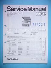 MANUAL DE Manual de servicio para Panasonic sg-235, original