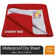 Bey Bee Quick Dry Baby Bed Protector Waterproof Sheet (Large;Red)-grP