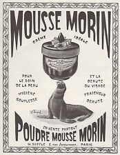 PUBLICITE  CREME & POUDRE MORIN MOUSSE  COSMETIQUE COSMETIC Ad  1924 - 11G