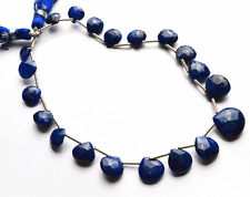 "79 CT 9"" Super GENUINE Natural Sapphire Faceted Heart SHAPE BEADS 8 TO 12 MM"