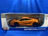 Maisto Special Edition Lamborghini Gallardo Superleggera 1:18 Orange - NOS