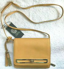 Vince Camuto Anika Crossbody Bag Pebbled Leather Toast Color/Gold Accents w/ Bag