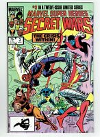 Marvel Super Heroes Secret Wars #3 Signed by Michael Zeck
