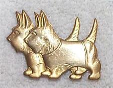 Vintage Terrier Or Scottie Dog Brass Pin